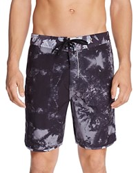 Hurley Phantom Tie Dye Floral Board Shorts Black
