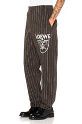 Loewe Baggy Trousers In Black Stripes Black Stripes