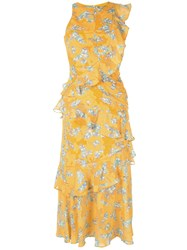 Three Floor Canary Islands Dress Yellow