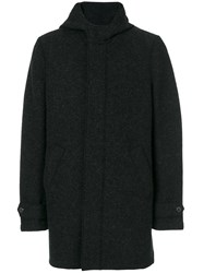 Harris Wharf London Hooded Coat Polyester Virgin Wool Grey