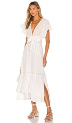 Cleobella Summer Midi Dress In White. Ivory