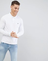 Jack Wills Long Sleeve Staplecross Polo In White