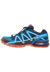 Salomon Speedcross 4 Gtx Trail Running Shoes Navy Blazer Cloisonne Flame Dark Blue
