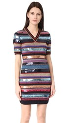 Dsquared2 Short Sleeve Striped Dress Mix Colours