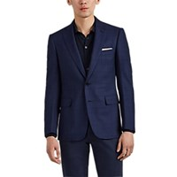 Cifonelli Montecarlo Plaid Wool Two Button Sportcoat Navy