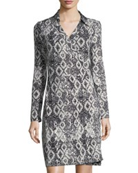 Romeo And Juliet Couture Graphic Print Wrap Dress White Black