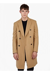 Melindagloss Camel Double Breasted Wool Coat