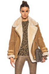 Acne Studios Velocite Shearling Jacket In Neutrals