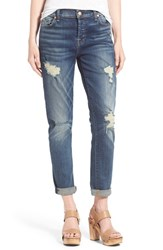 Women's 7 For All Mankind 'Josefina' Destroyed Boyfriend Jeans Crete Island