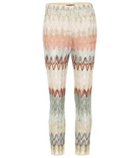 Missoni Crochet Knit Cropped Pants Multicoloured