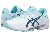 Asics Gel Solution Speed 3 White Blue Steel Crystal Blue Women's Tennis Shoes