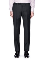 Armani Collezioni Tailored Wool Pants Black