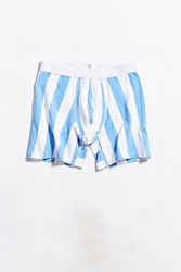 Urban Outfitters Uo Awning Stripe Boxer Brief Blue