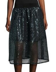 Necessary Objects Sequined A Line Skirt Teal