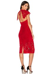 Lover Affinity Midi Dress Red