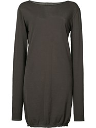 Rick Owens Long Sleeved Tunic Women Cotton M Grey