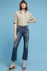Anthropologie Citizens Of Humanity Drew High Rise Cropped Flare Jeans Denim Dark