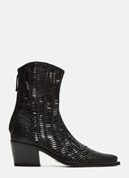Alyx Tex Woven Leather Boots Black