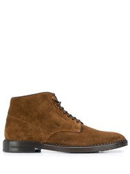 Dolce And Gabbana Suede Ankle Boots Brown