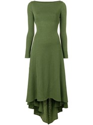 Dsquared2 Asymmetric Knitted Dress Green