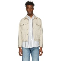 Naked And Famous Denim Off White Denim Seed Jacket