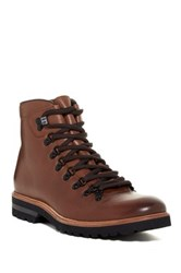 Kenneth Cole Click Magnet Mid Lace Up Boot Brown