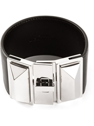 Saint Laurent Pyramid Stud Bracelet Black