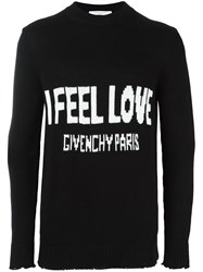 Givenchy Love Knitted Jumper Black