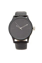 Forever 21 Men Faux Leather Watch