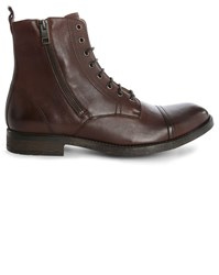 Diesel Brown Kallien Side Zip Laced Boots