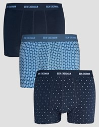 Ben Sherman 3 Pack Boxers Navy