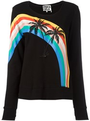 Pam And Gela Palm Trees Sweatshirt Black