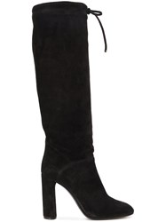 Casadei Wide Leg High Knee Boots Black
