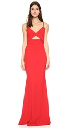 Michelle Mason Bustier Gown Red