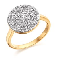 Monica Vinader Ava Diamond Disc Ring Female Gold