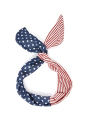 Forever 21 American Flag Wire Headwrap Navy Red