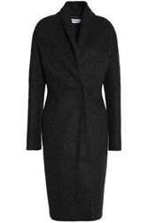 Chalayan Brushed Wool And Cashmere Blend Coat Anthracite