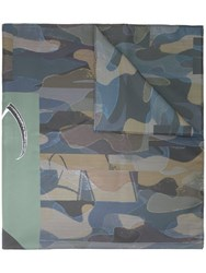 Undercover Camouflage Print Scarf Green