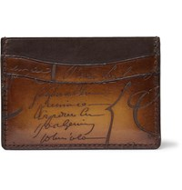Berluti Bambou Leather Cardholder Brown