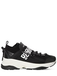 Dsquared 65Mm Bumpee Leather Low Top Sneakers Black