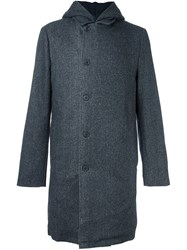 Stephan Schneider Buttoned Hooded Coat Grey
