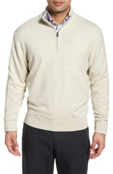 Cutter And Buck Big Tall Lakemont Classic Fit Quarter Zip Sweater Oatmeal Heather