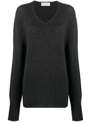 Ma'ry'ya Relaxed V Neck Jumper 60