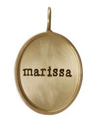 Oval 14K Gold Gold Single Lowercase Name Charm Heather Moore