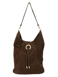 Phase Eight Sapphia Suede Bag Brown