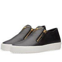 Giuseppe Zanotti Double Zip Slip On Sneaker Black