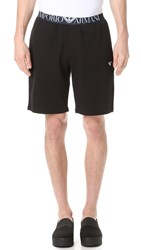 Emporio Armani French Terry Lounge Shorts Black