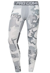 Nike Performance Pro Combat Tights White Cool Grey Anthracite