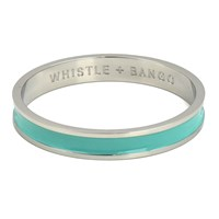 Whistle And Bango X27 W' Alphabet Bangle Mint Silver