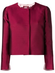 Max Mara Dovere Cropped Jacket Red